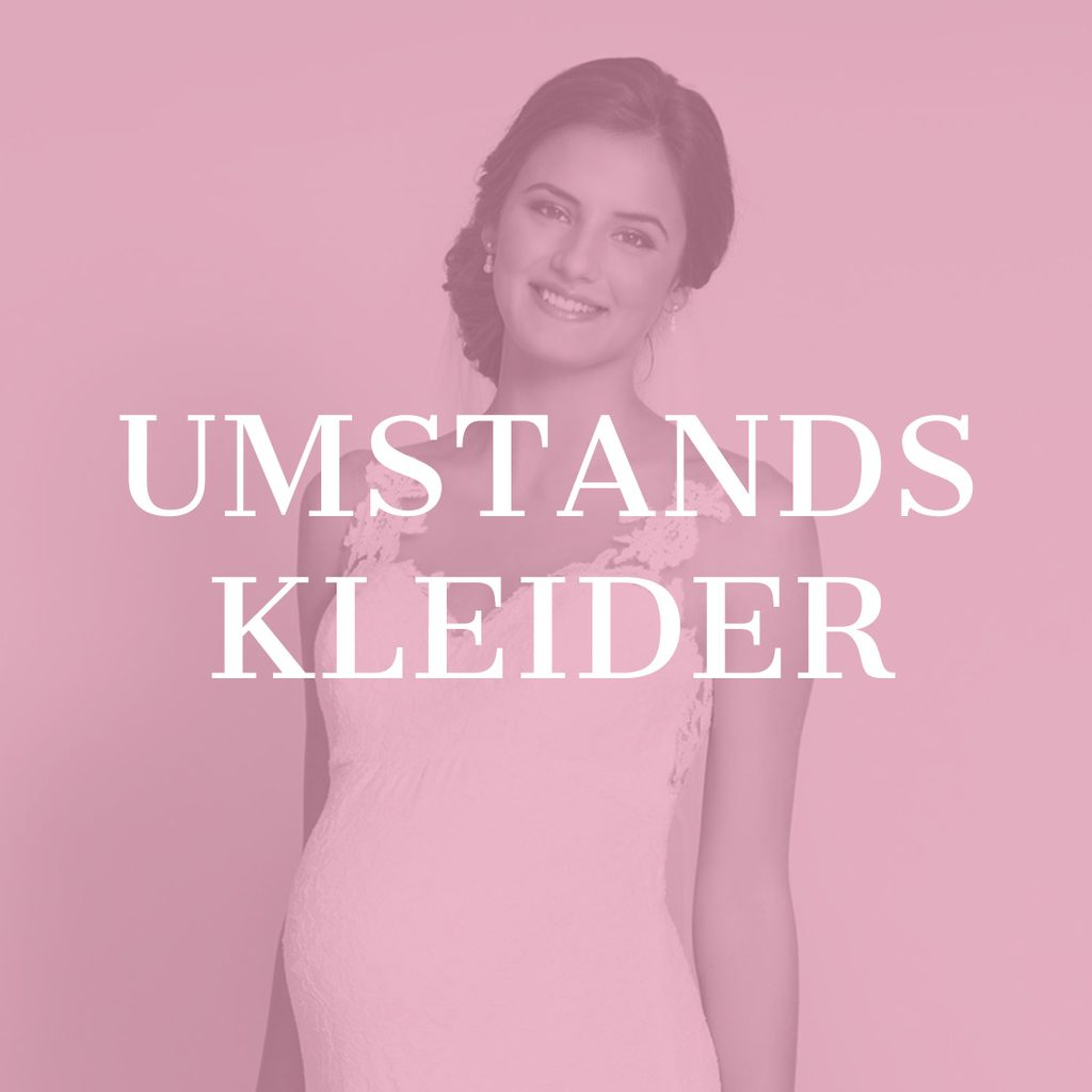 Schwangeres Model in Umstandskleid mit Spitzenapplikationen