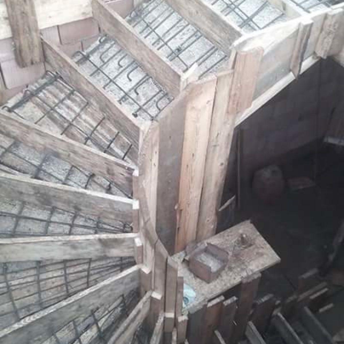 Betonieren und Treppenbau