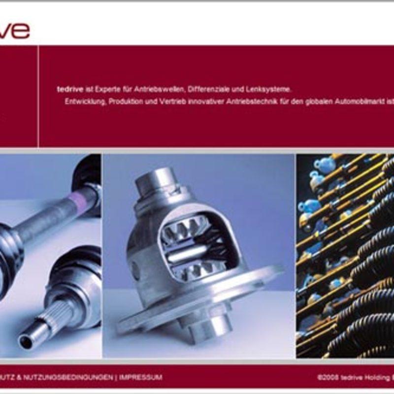 Tedrive Steering Systems   Website, Intranet, Broschüren