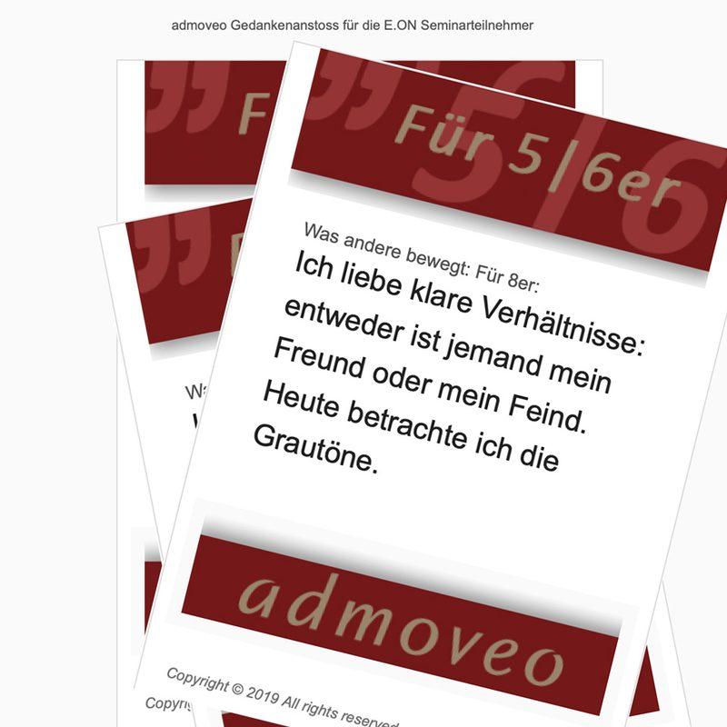 Admoveo - EON  Automatisiertes 75-stufiges Newslettermarketing als Seminarbegleitung (Mailchimp)