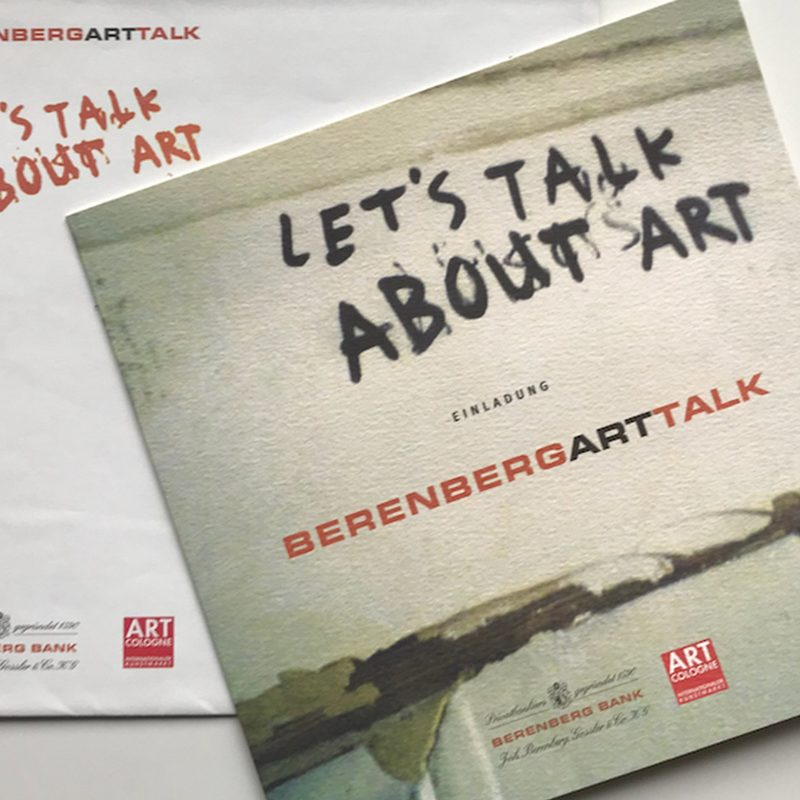 Berrenbank Bank   Art Talk. Einladungen, Onlineregistration