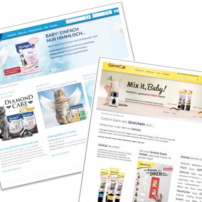 Gimborn   Biokat's, Gimpet. Produkt-Websites auf einer gemeinsamen Webarchitektur – Online-Werbemittel