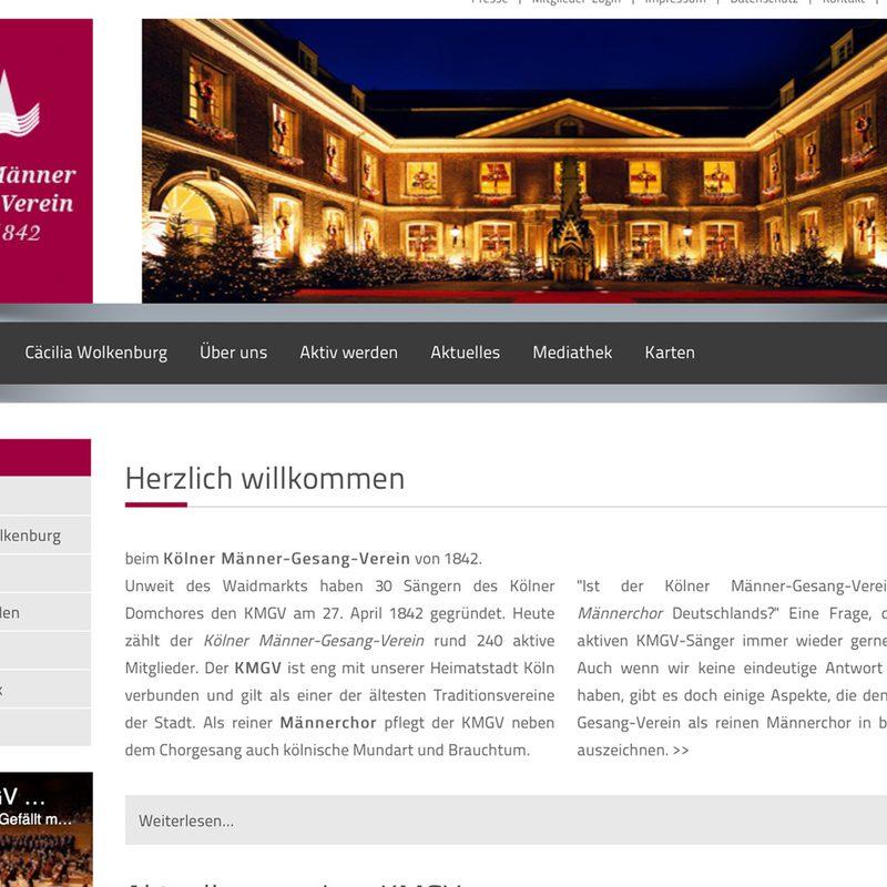 KMGV - Kölner Männer Gesang Verein   Website (Contao)
