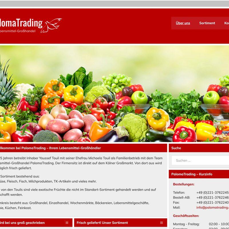Paloma Trading   Website (WordPress), Logo, technische Betreuung DATEV