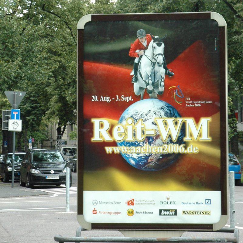 CHIO Aachen Reit-WM   Out-of-Home Media, Online Werbemittel zur Reit-WM und CHIO