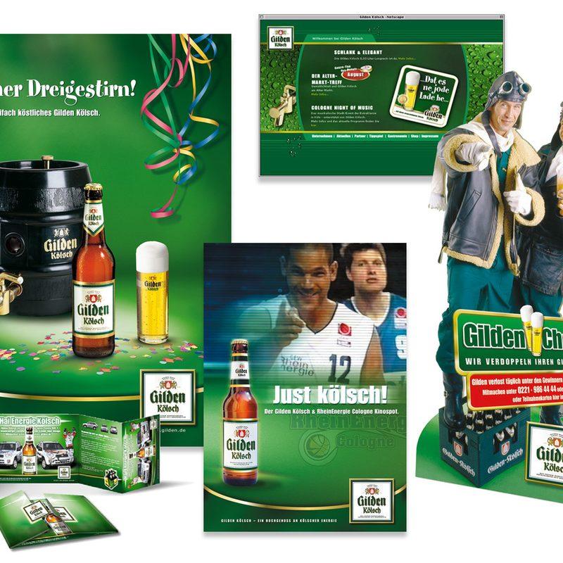 Kölner Brauereiverband, Gilden Kölsch   Konzeption und lfd. Beratung. Kampagnen, Promotions, Internet, Radiospots, Kinospots, Sponsoring