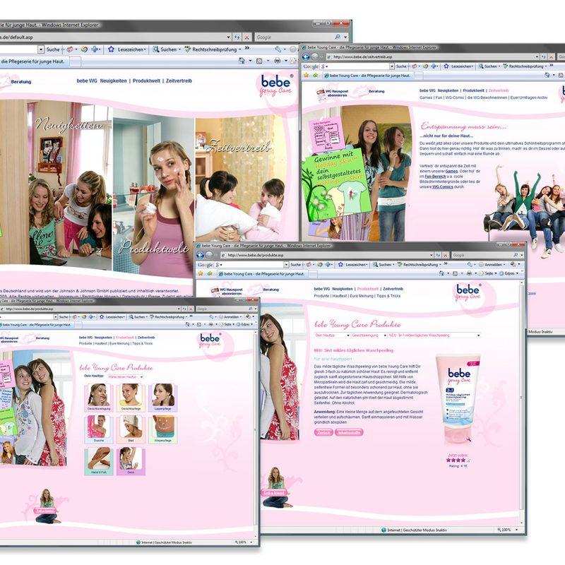 bebe YoungCare   Website – Regelmäßige Online-Promotions/Gewinnspiele. Newsletter