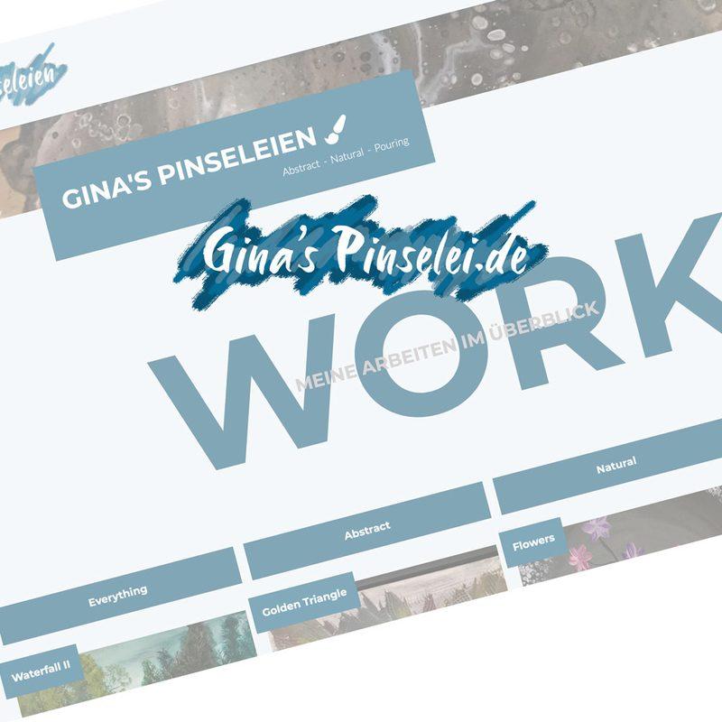 Gina's-Pinselei   Referenz für Künstlerportfolio   www.ginas-pinselei.de
