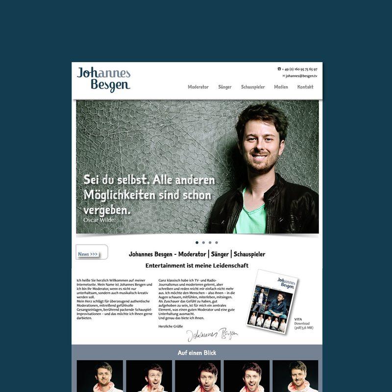Johannes-besgen.de   Website für den Moderator - Sänger - Schauspieler