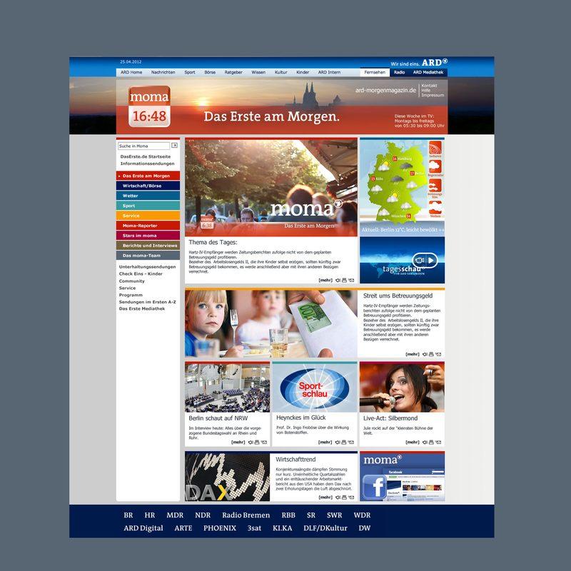 ARD-Morgenmagazin   Beratung und Gestaltung beim Web-Relaunch (CMS Sophora)